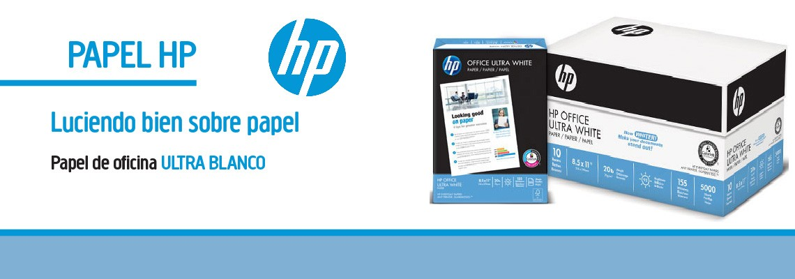 Papel Bond carta HP Office